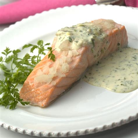 poached salmon recipes poached salmon recipe dishmaps