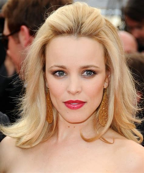 hair styles for shoulder length hair pulled back rachel mcadams straight hairstyle party formal evening