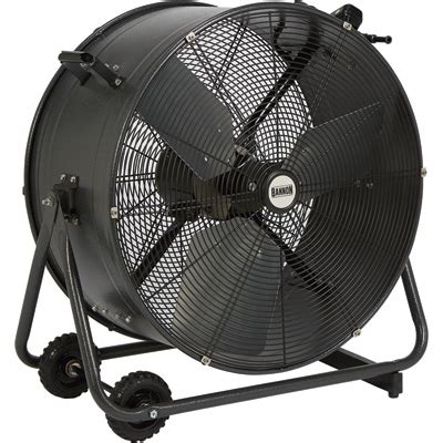 big air 24 drum fan with tilting feature bannon tilting indoor outdoor enclosed motor direct drive