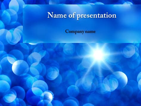 Free Blue Snowflakes Powerpoint Template Background For Presentation Free Powerpoint Themes Templates