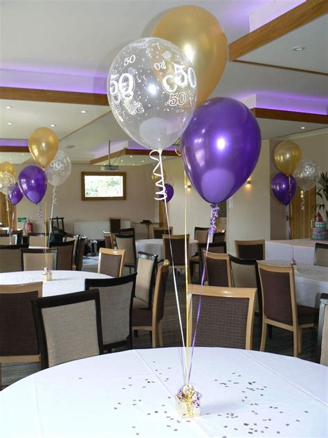 50th birthday table decorations 50th birthday balloons 10 table decorations purple and