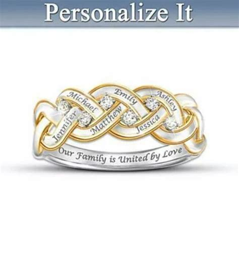 personalized family ring my style