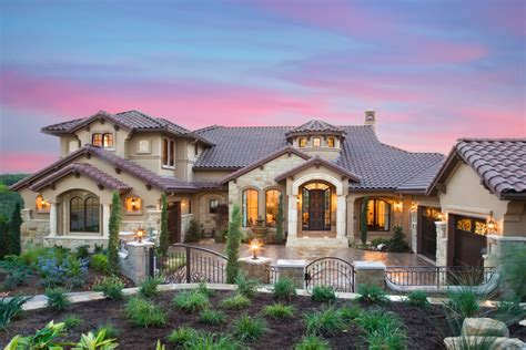 mediterranean custom home designs decosee