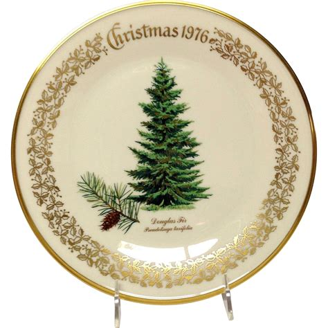 lenox christmas tree douglas fir commemorative plate 1976