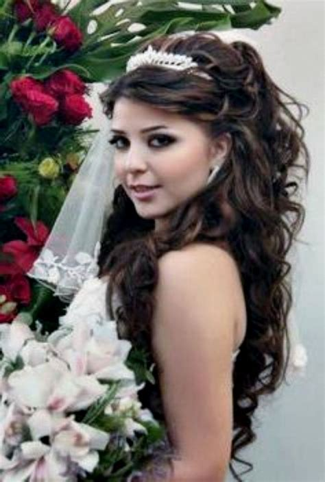 quinceanera hairstyles for long hair with curls and tiara hairstyles for long hair quinceanera hairstyles ideas