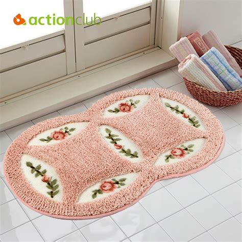 Aliexpress Com Buy Actionclub Pvc Mesh Coral Fleece Bathroom Floor Rugs
