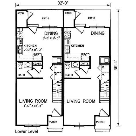small duplex plans small duplex house plans pinterest