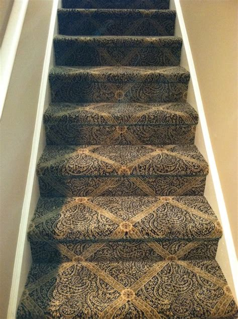 Cape Cod Style Bedroom by Beautiful Patterned Carpet For Your Stairs Traditional