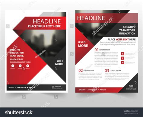 Red Black Triangle Business Brochure Leaflet Stock Vector 475964563 Shutterstock Template Design