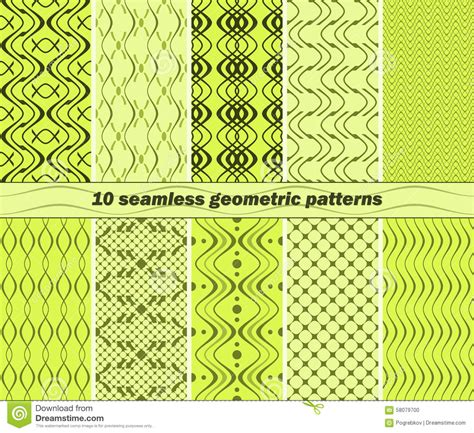 typing pattern project abstract 10 seamless abstract geometric patterns in lime and green