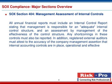 sox section 409 sox compliance services brochure 2013
