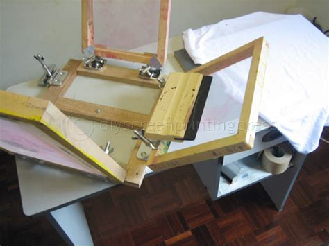 how to build a screen printing press for 50
