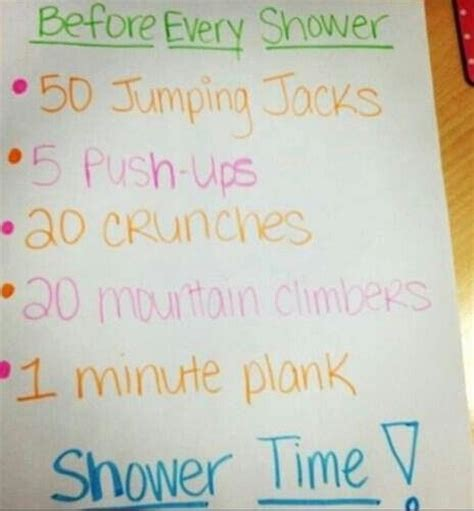 hot shower lose water weight 1000 ideas about before shower workout on pinterest