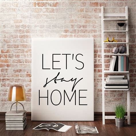 lets stay home print hd wall art poster nordic modern