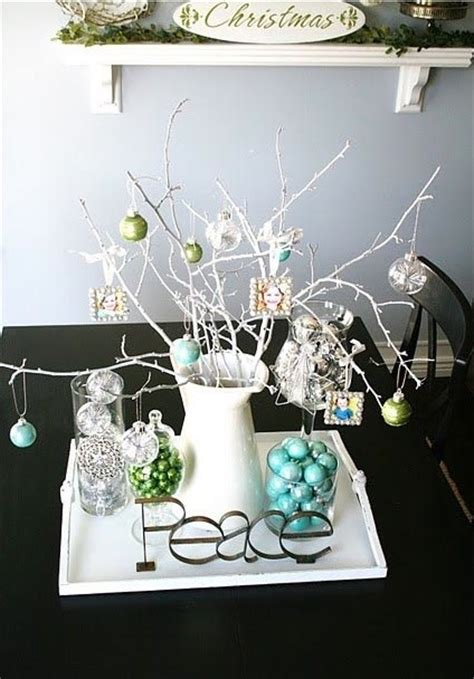 small ornament centerpiece contemporary dining room