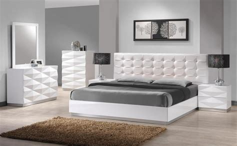 modern white bedroom furniture carrerie king size modern white leatherette headboard