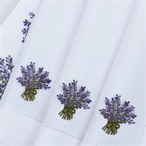 eri textiles lavender bouquet table linen artedona com