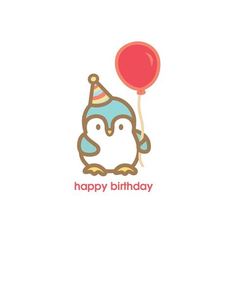 Penguin Birthday Cards Birthday Card Penguin Dammit Pinterest