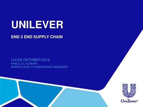 Ppt Unilever End 2 End Supply Chain Powerpoint Unilever Ppt Template Free