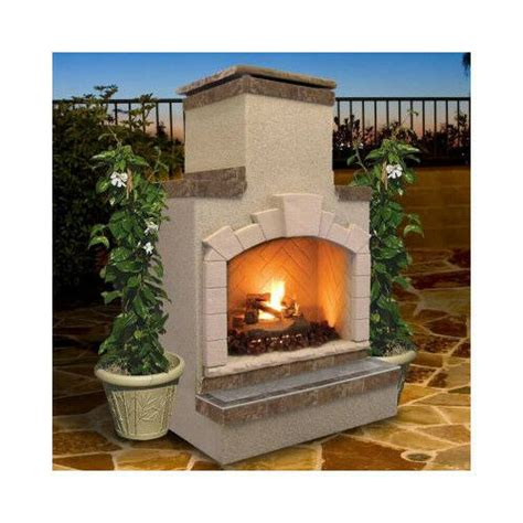 outdoor fireplace logs propane gas outdoor fireplace includes burner and logs 48 quot w 79 quot pit ebay