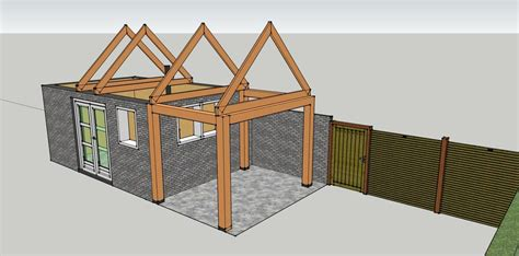 schuur 2 x 3 bouwen schuur 6 00 x 3 60m met overkapping werkspot