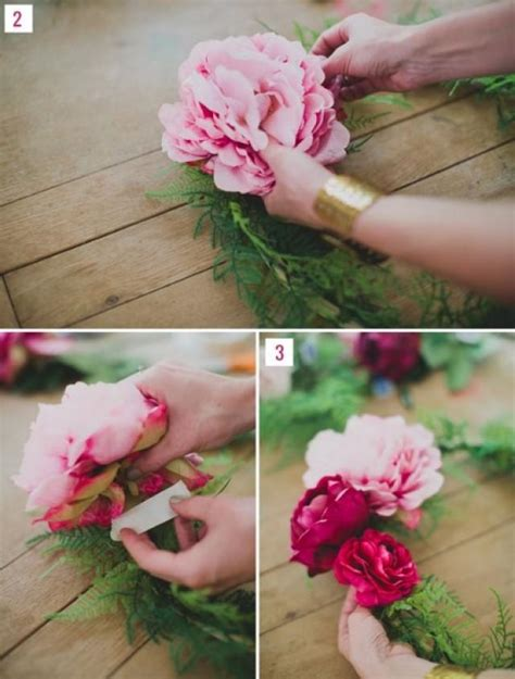 diy silk flower wreath for wedding backdrops