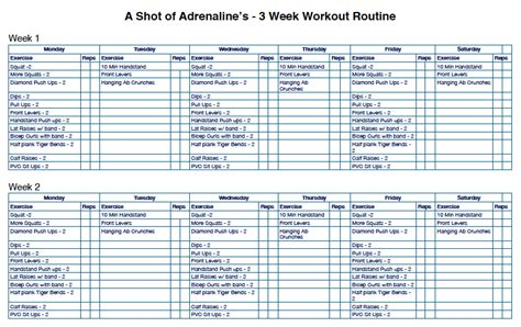 the 3 week workout routine that will increase