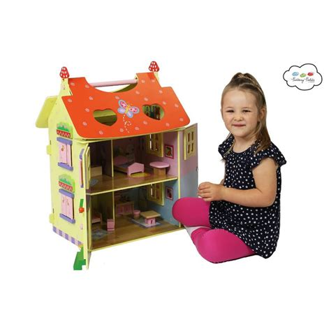 carry dolls house magic garden hand carry doll house