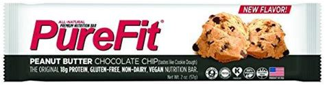 Purefit Peanut Butter Chocolate Chip Bars 57gr best tasting protein bars reviewed compared in 2017