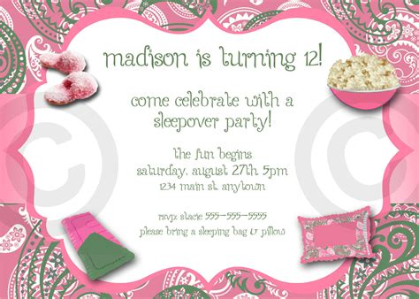 free slumber invitation templates free printable birthday invitations for sleepover