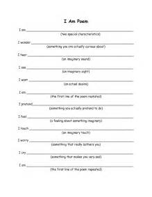 I Am From Template by I Am Poem Worksheet Davezan