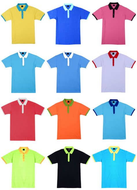 different color shirt in 260g 100 cotton different color collar polo shirt custom