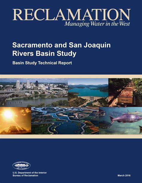 san joaquin section 8 sacramento and san joaquin rivers basin study technical