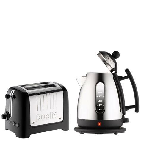 dualit kitchen appliances dualit jug kettle and 2 slot toaster bundle black