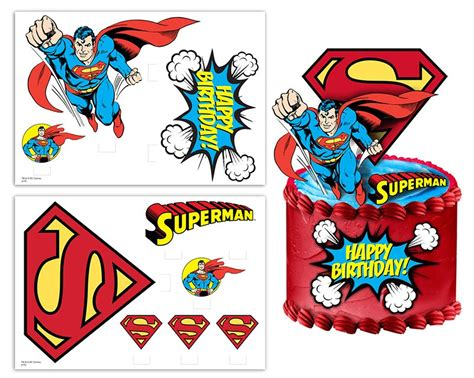Cupcake Topper Superman 5 superman cake topper