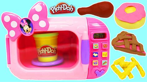 Play Doh Minnie Mouse Boutique Set Featuring Minnie Mouse pretend play doh cooking with minnie mouse marvelous microwave playset