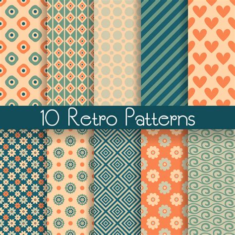 pattern download free 10 retro patterns vector free vector graphic download