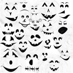 ghost faces for halloween ghost faces for the kids pinterest pumpkins
