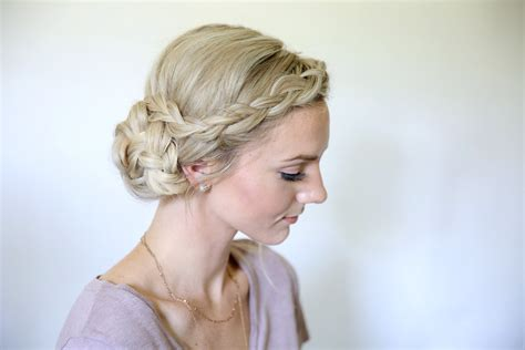 Homecoming Hairstyles by Easy Braided Side Bun Homecoming Hairstyles