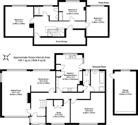 chalet bungalow floor plans 4 bedroom detached bungalow for sale in 4 bedroom detached chalet bungalow in cowfold rh13