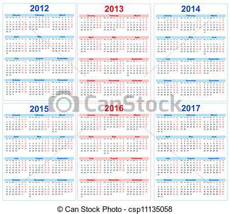 Calendrier R Madrid Vektor Napt 225 R 2012 2013 2014 2015 2016 2017