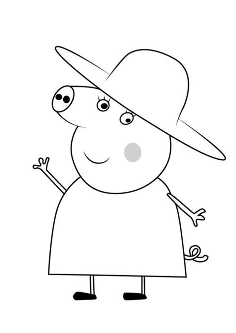 Dibujos Para Imprimir De Peppa Pig Grandes Archivos The Pig Coloring Pages