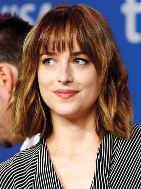 how to get bangs like dakota johnson 25 best ideas about thin bangs on pinterest thin hair