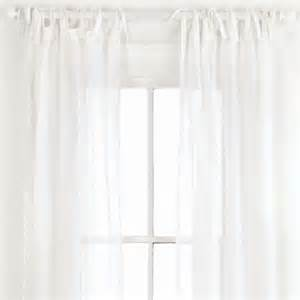 White window curtains viewing gallery