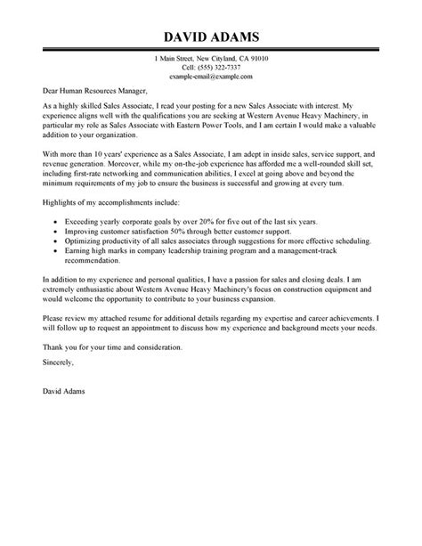 best inside sales cover letter examples livecareer