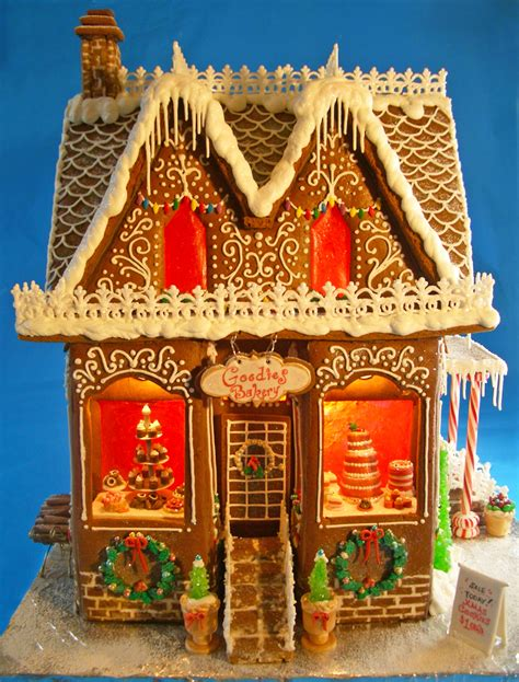 windows for gingerbread house goodies bakery gingerbread house 2012 cakecentral com