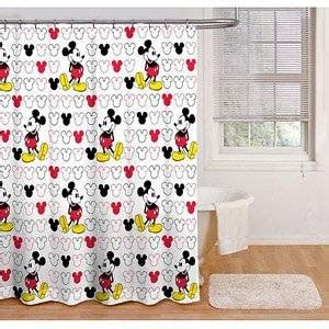 amazoncom disney mickey mouse fabric shower curtain home kitchen