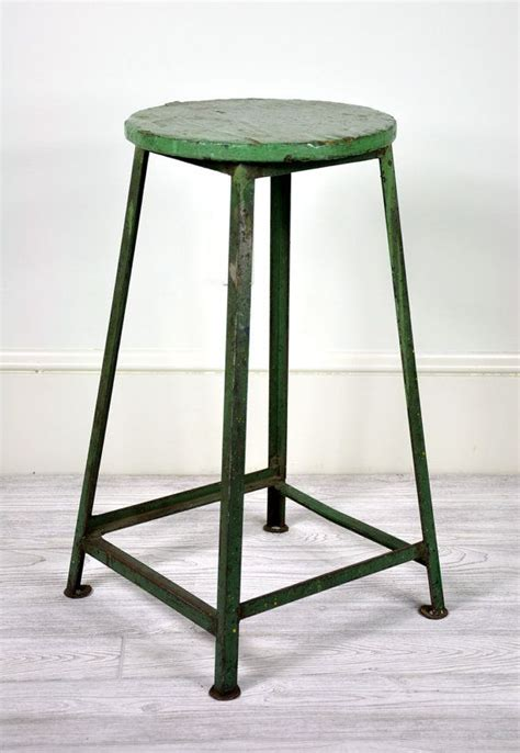 vintage industrial metal shop stool industrial decor