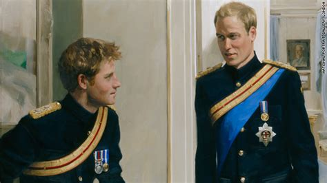 prince william education princes william and harry pose in new portrait cnn com
