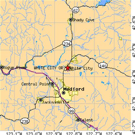 map of white city oregon white city oregon or population data races housing